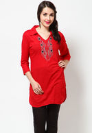 Sangria Red Kurta at Rs.499