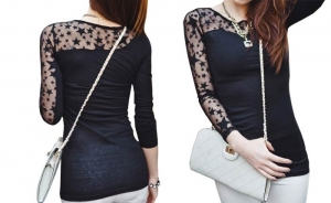 Black Lace Top at Rs.1150