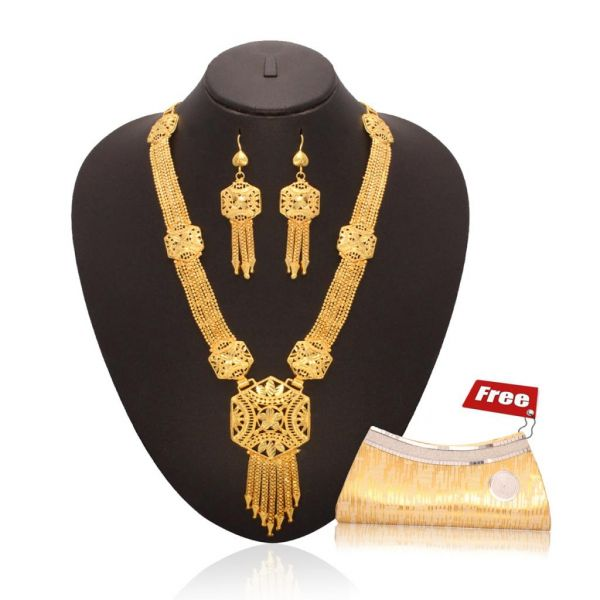 Combo of Clutch & Necklace set at Rs.549