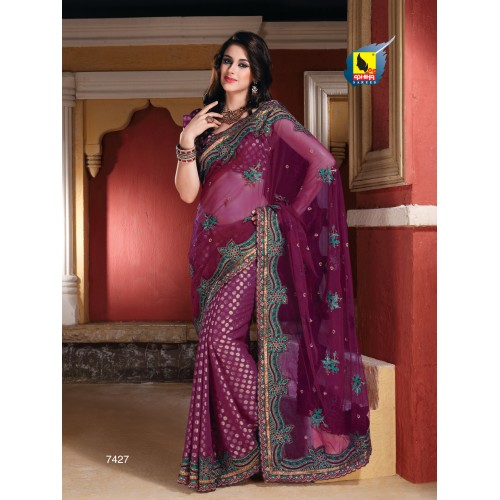 New Designer Net Saree at Rs.4610
