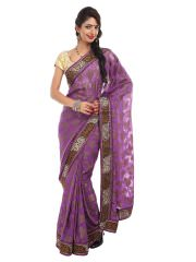 Dori Purple Fashion Saree at Rs.2220