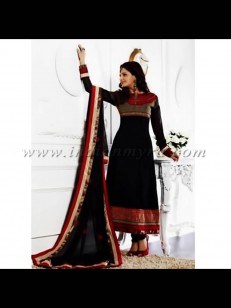 Black Embroidered Suit at Rs.7599