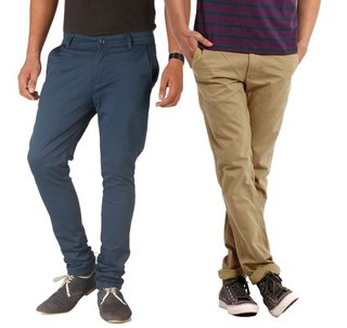 Pack of 2 pcs Matrix Chinos at Rs.999