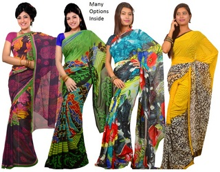 Kriaa Pack of 4 Sarees at Rs.1199
