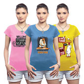 Pack of 3 Womens Tshirt at Rs.499