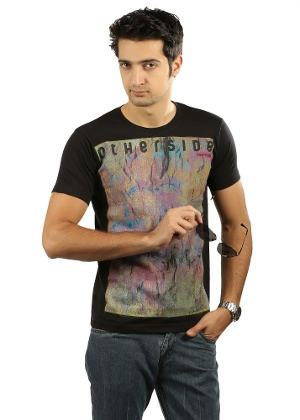 Men's T-shirt By Aliep - Black at Rs.479