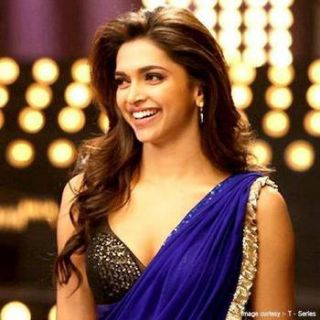 Deepika padukone Badtamiz dil YJHD blue saree at Rs.1259