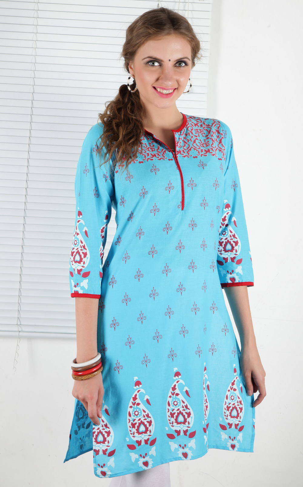 Noor Blue Cotton Women - Kurtis at Rs.269