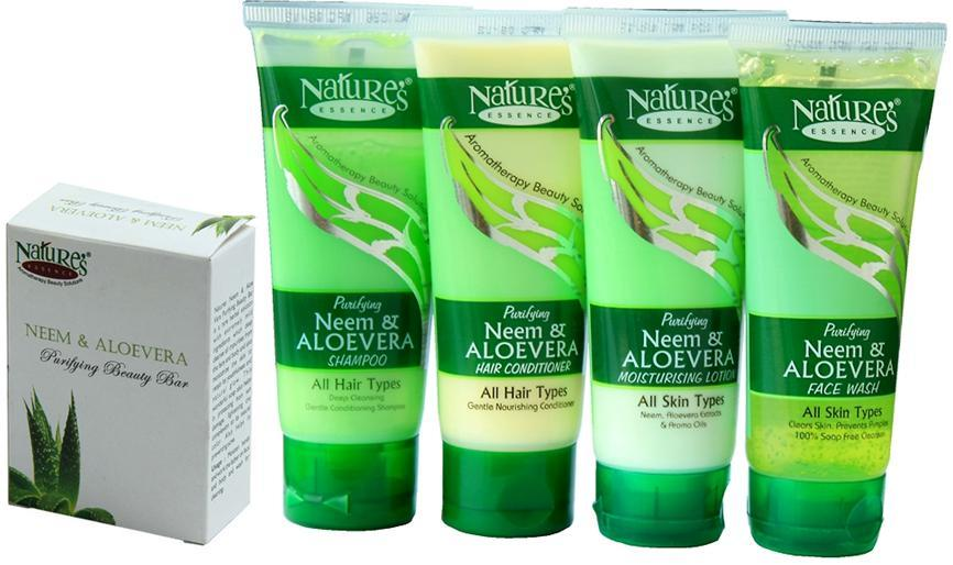 Nature's Essence neem and Aloe vera 5 In 1 combo pack at Rs.149
