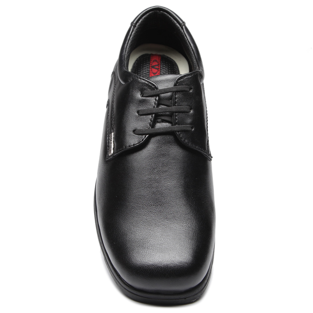 Valentino black men pure leather formal shoes at Rs.1949