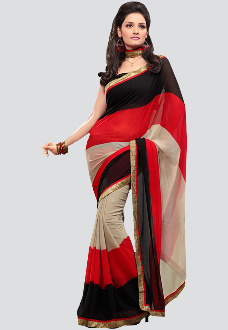 Fabdeal printed multi saree at Rs.1200