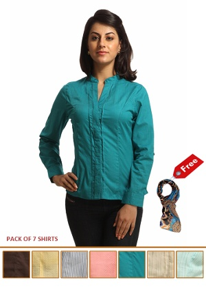 Buy Begin101 Casual shirts-Set of 7 at Rs.1999