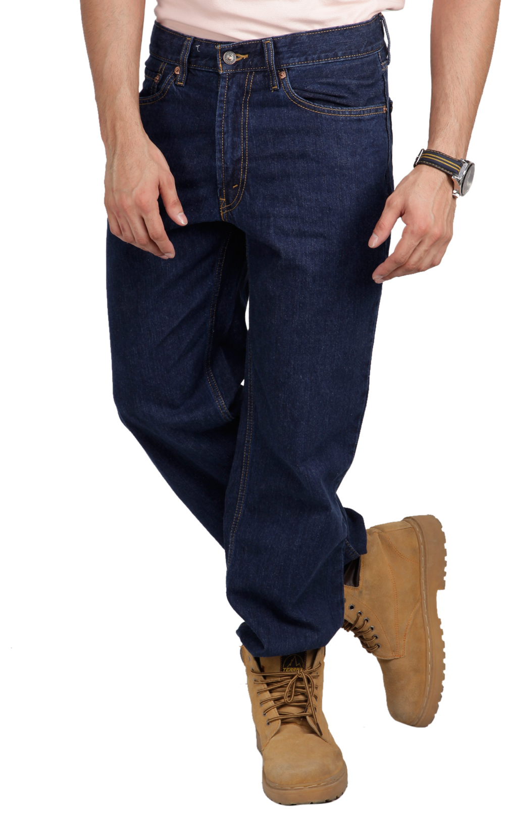Buy Levis Blue Denim Regular Fit Men jeans at Rs.999