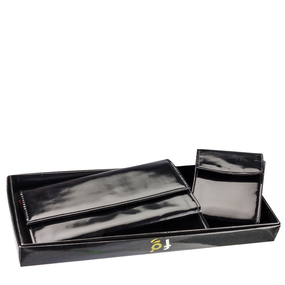 Feelgood women's clutch & wallet combo classic black at Rs.699