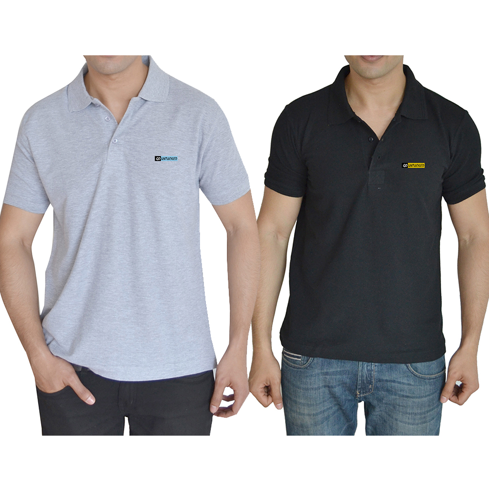 Buy Go Untucked Set Of Two Men T-shirt at Rs.699