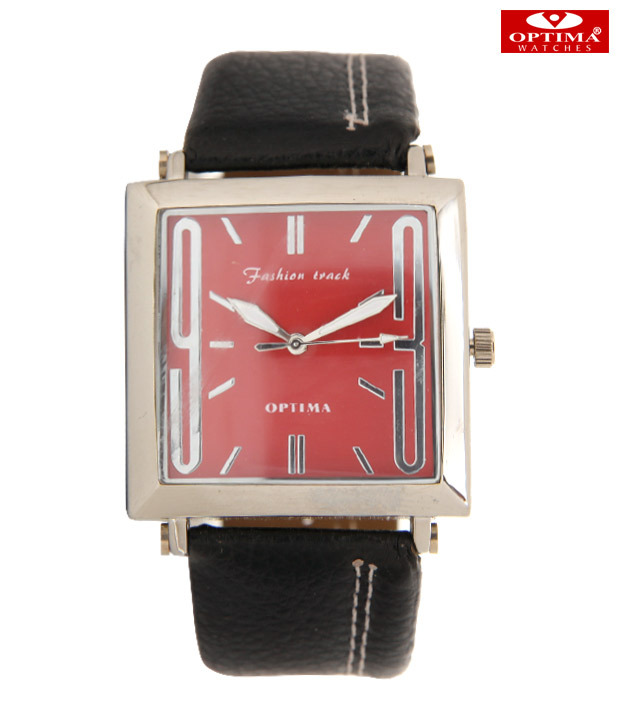 Buy Optima Bold Marker Red Dial Watch at Rs.429