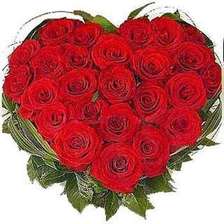 Buy Heart Shape Basket (Roses) at Rs.1095