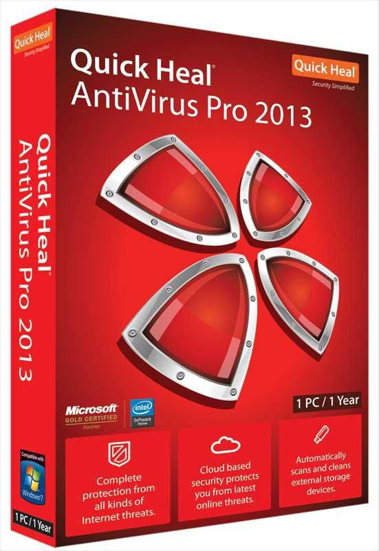 Buy Quick Heal Antivirus pro 2013 (Red, 1 User) at Rs.799