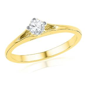 Buy Diamond & Gold Ring by Jpearls at Rs.17800