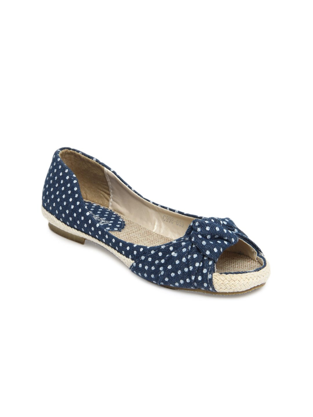 Buy DressBerry women blue flat shoes atRs.879