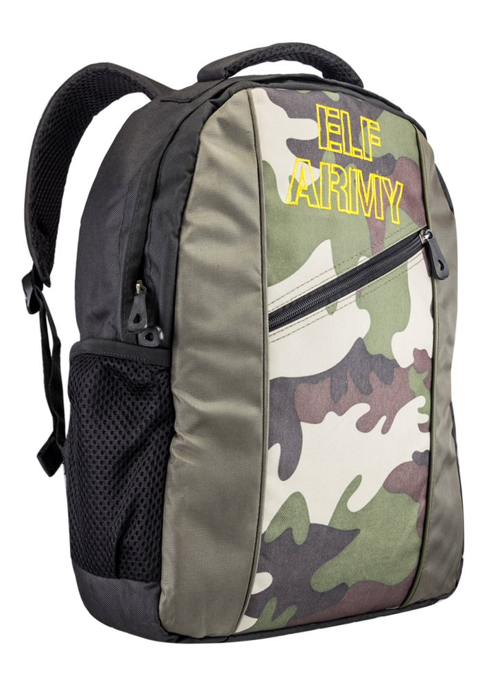 Buy Elf army camouflage olive backpack at Rs.399