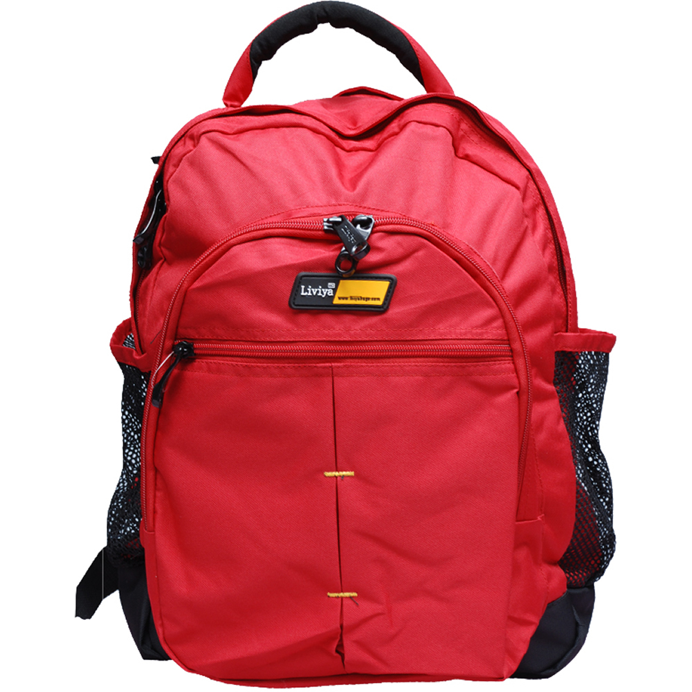 Buy Liviya Red Unisex Backpack at Rs.1980