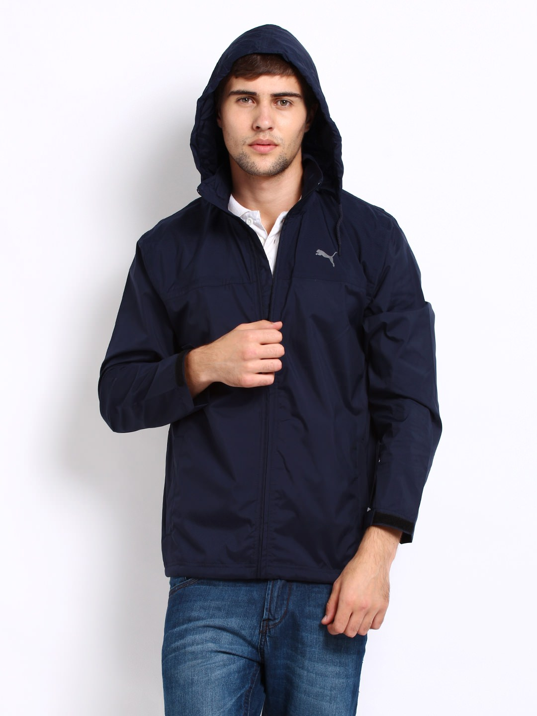 Buy Puma men navy rain jacket at Rs.1954