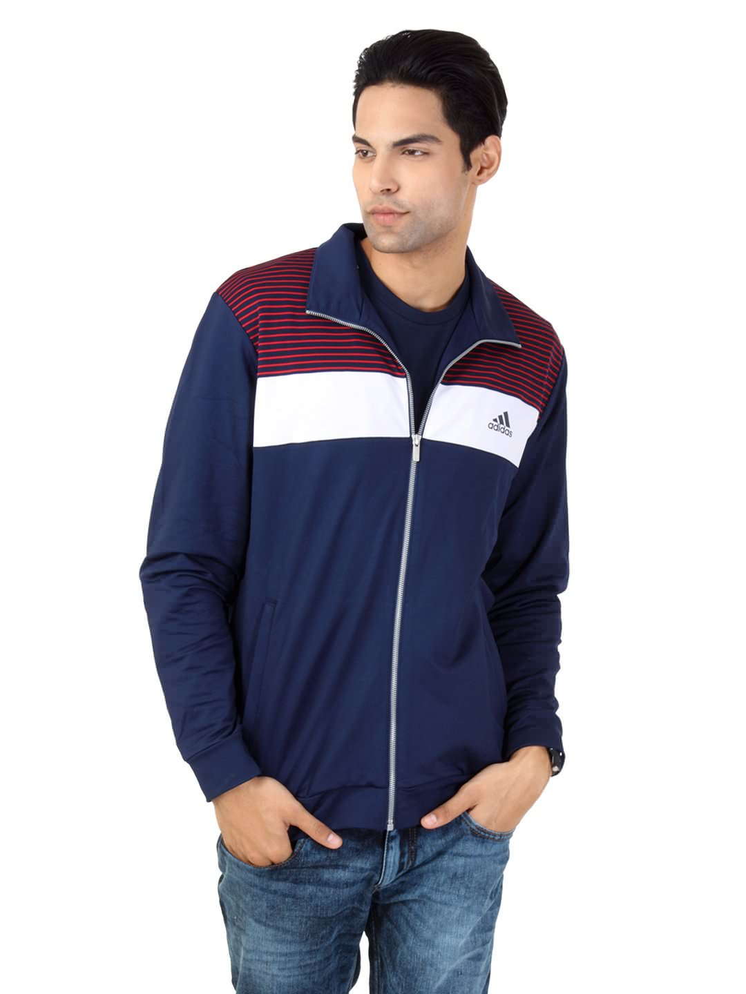 Buy Adidas Men Blue Jacket at Rs.2879