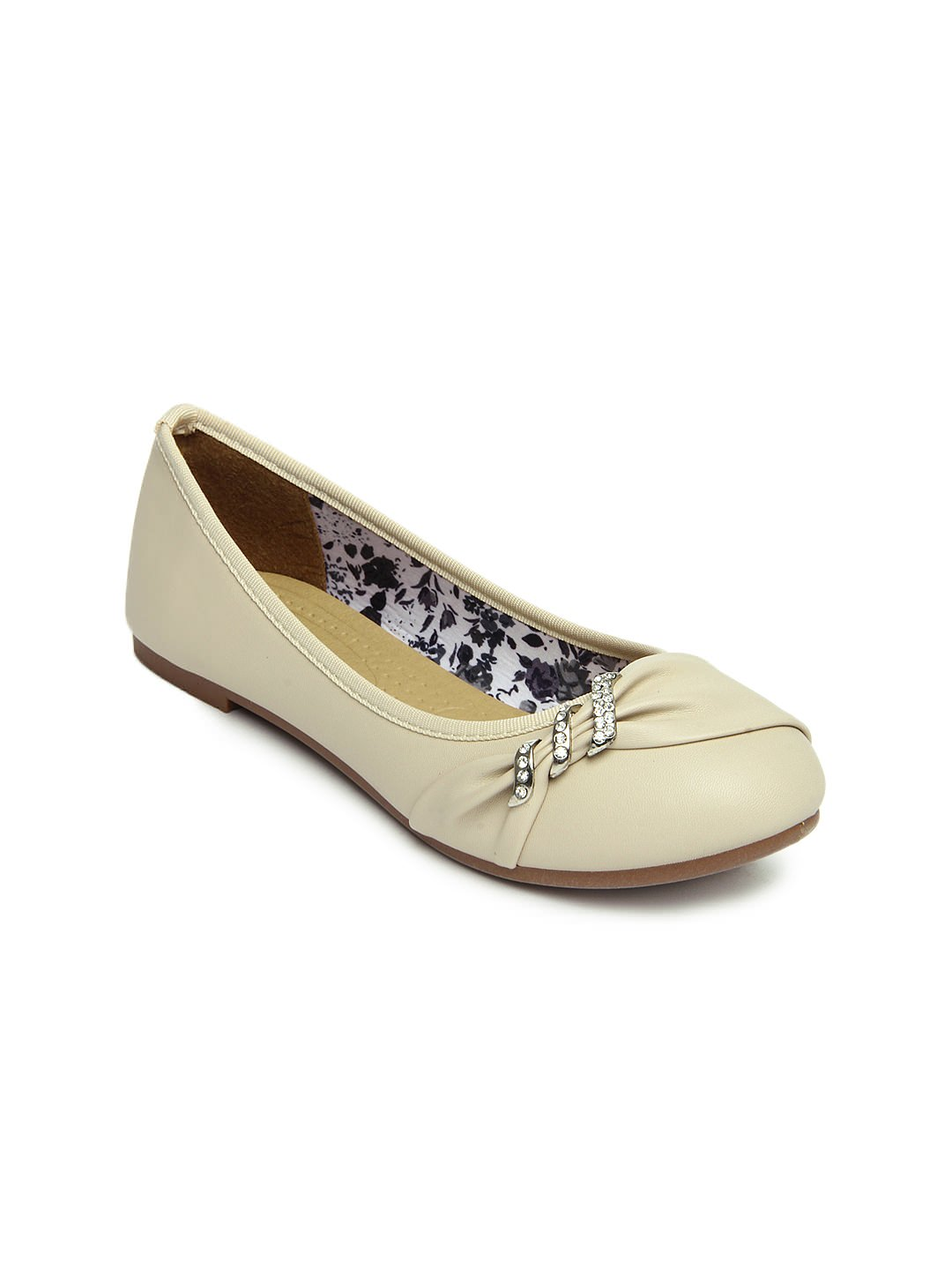 Buy DressBerry women beige ballerinas at Rs.799