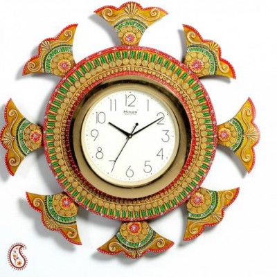 Buy wooden ship wheel clock at Rs.1700