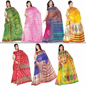 Set of 7 Kota Doria Sarees at Rs.2999