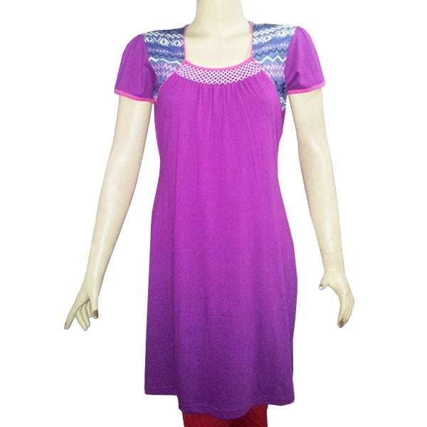 Buy Sarvinis Purple Cotton Kurti at Rs.346