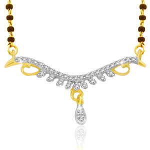 Buy Sparkles Real Diamonds Mangalsutra at Rs.18887