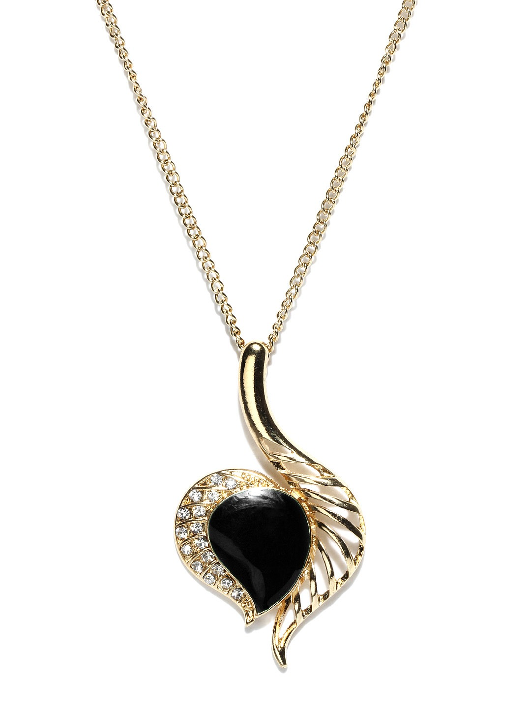 Buy Dressberry Gold Toned Leaf Necklace at Rs.263