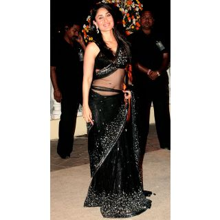Buy Kareena Black Saree at Rs.2800