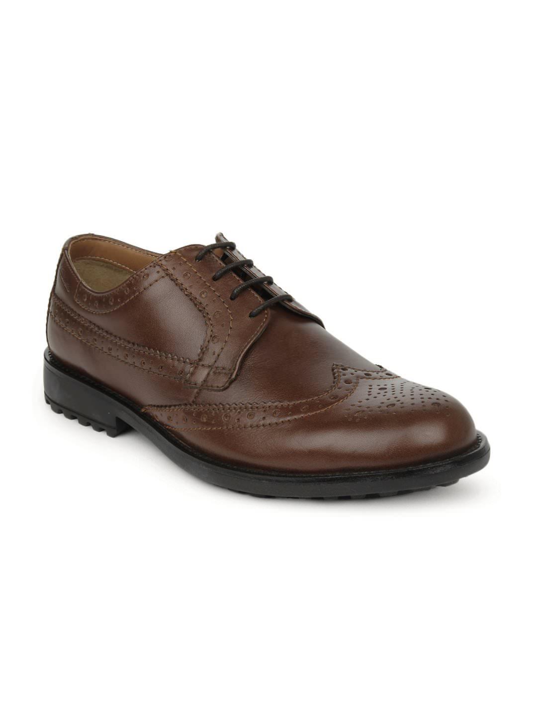 Buy Clarks Cognac Semi Formal Shoes at Rs.3749