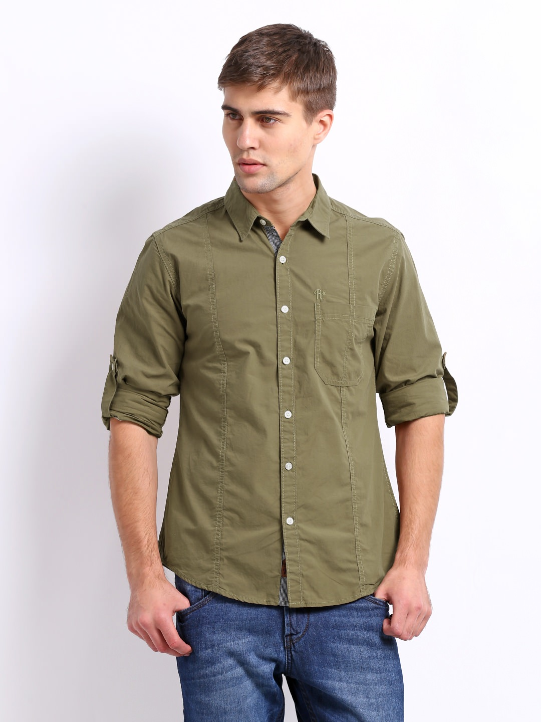 Buy Roadster Slim Fit Casual Shirt at Rs.749
