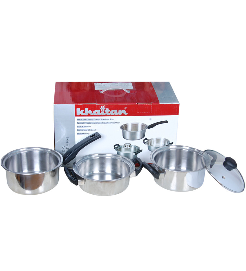 Buy Khaitan Induction Cookware Set at Rs.1199