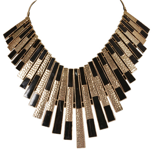 Buy D&Y Black and Golden Necklace at Rs.599