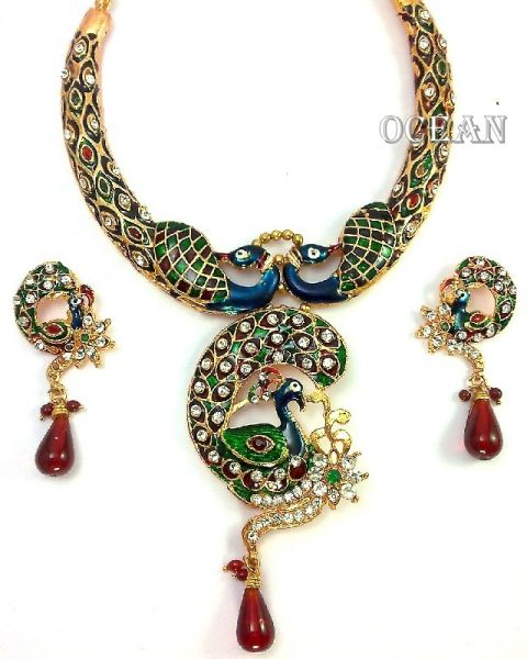 Buy Peacock Design Necklace Set at Rs.349