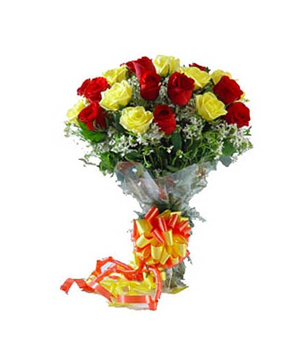 Buy Red & Yellow Roses at Rs.299