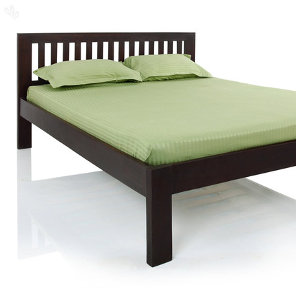 Buy Bed King Solid Wood with Dark Finish at Rs.18995