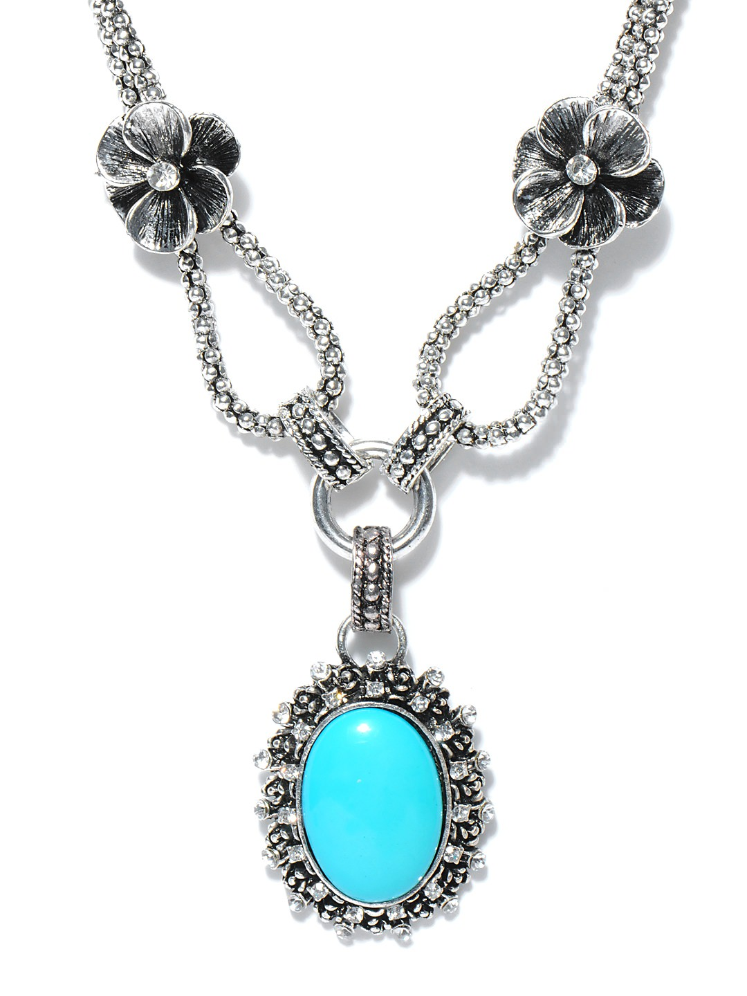 Buy Dressberry Silver Toned Necklace at Rs.382
