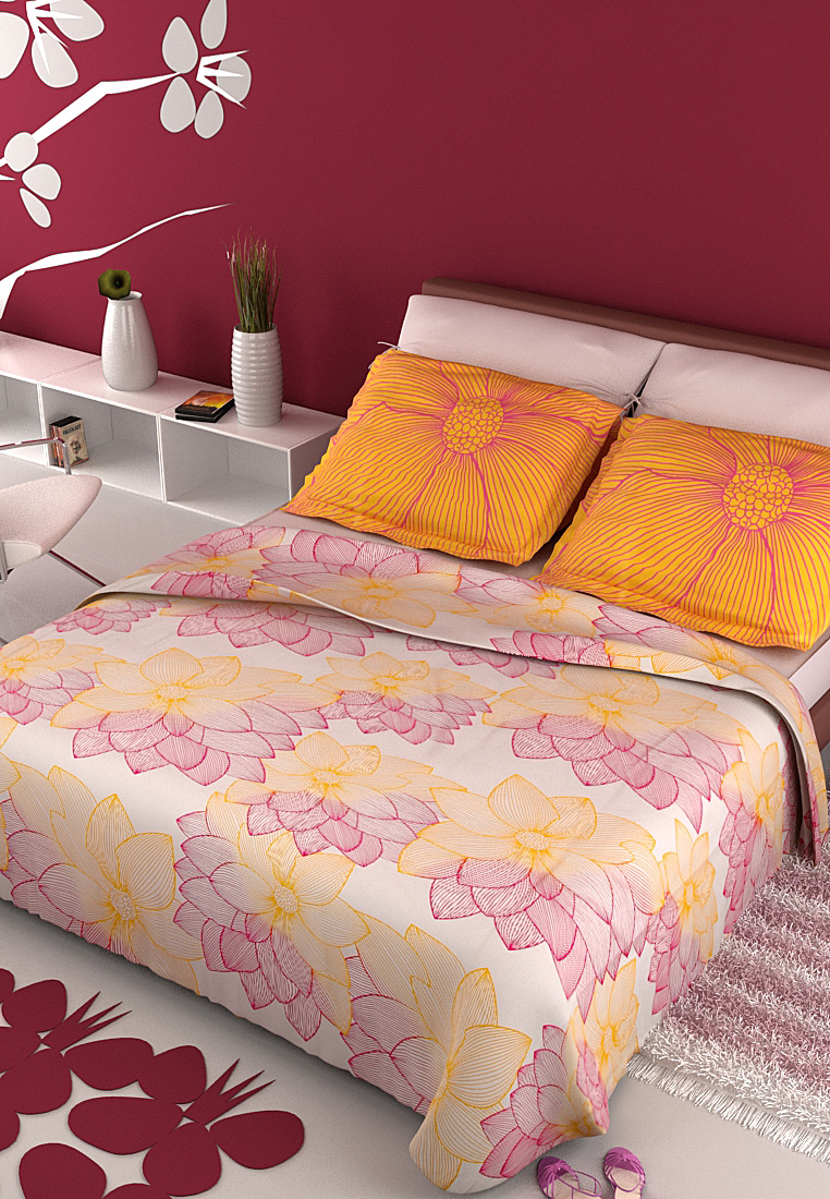 Buy Portico New York Bed Sheet Set at Rs.979