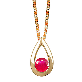 Buy Facetz Silver and Ruby Pendant at Rs.1598