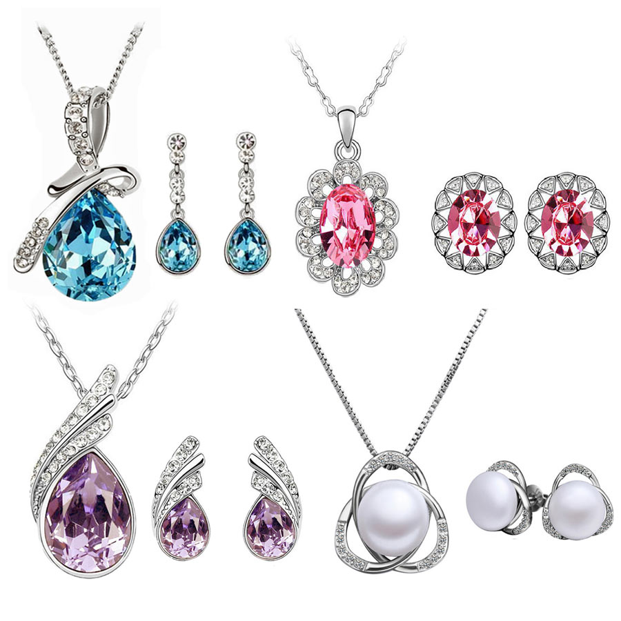 Combo of 4 Cyan Jewellery Set at Rs.1025