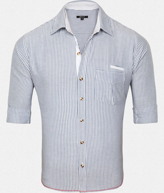 Yarn Dyed Striped Shirt at Rs.349