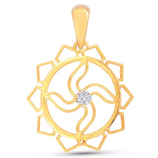 Swastik in Flower Pendant at Rs.2216