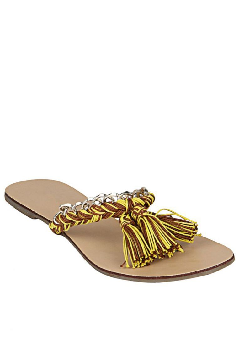 Inc.5 Yellow Slippers at Rs.475