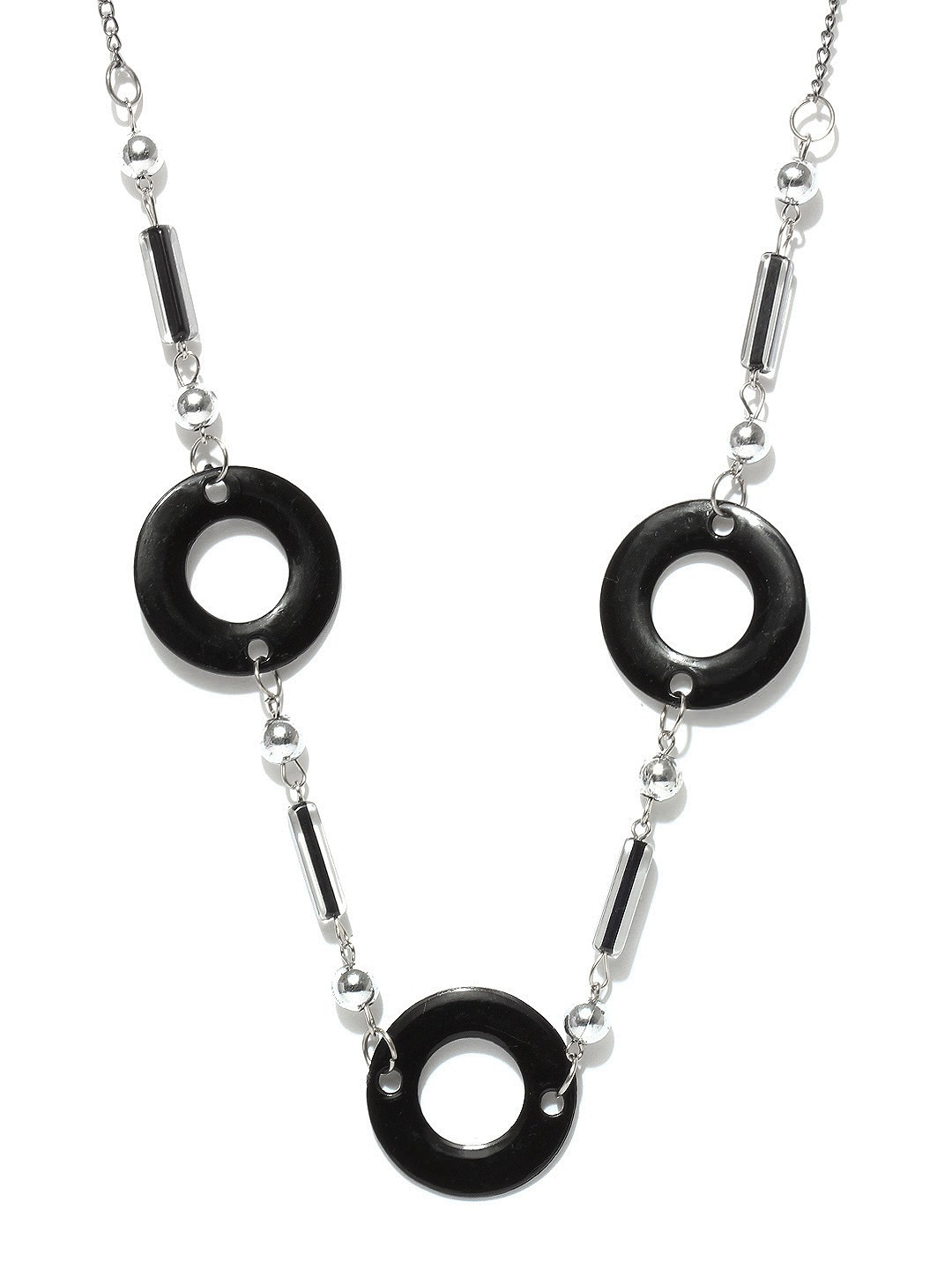 Diovanni Silver & Black Necklace at Rs.300